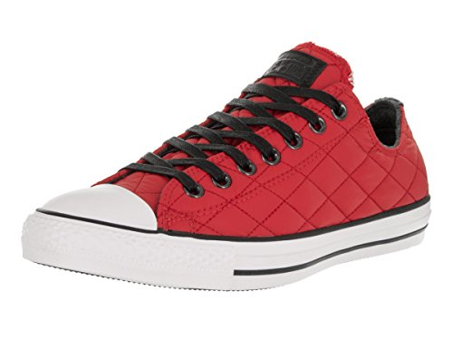 Converse Men's Chuck Taylor All Star Leather Low Top Sneaker, Red/White/Black