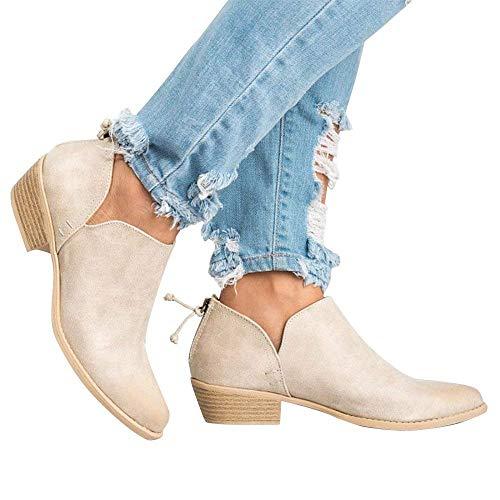 Boots Invernale Cuoio Chelsea Stivali Marrone Neri 35 Rosa 3cm Beige Ankle Comode Blocco Bassi Zeppa Moda Con Flat 43 Tacco Donna Stivaletti Eleganti TxYwaAqZ0W