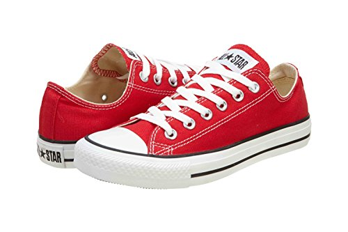 Zapatillas De Baloncesto Converse Unisex Chuck Taylor All Star Ox (6 D (m) Us Hombres / 8 B (m) Us Mujer, Red)