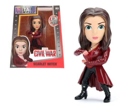 """NEW 4"""" JADA TOYS ACTION FIGURE COLLECTION - CAPTAIN AMERICA CIVIL WAR SCARLET WITCH M134 Action Figures By Jada Toys"""