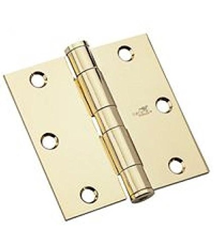 National Hardware N236-108 Hinge Standard Weight Template 3-1//2 Polished Brass