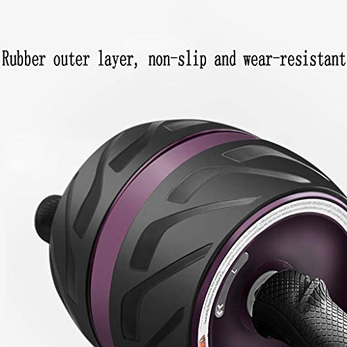 Mlimy Hommes et Femmes débutants Automatique Rebond Fitness Ventre Roue Silencieux Fitness Equipment Rouleau avec Coussin ( Color : A )