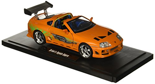 Jada 1:18 Fast & Furious Brian's Toyota Supra Diecast Vehicle, Orange