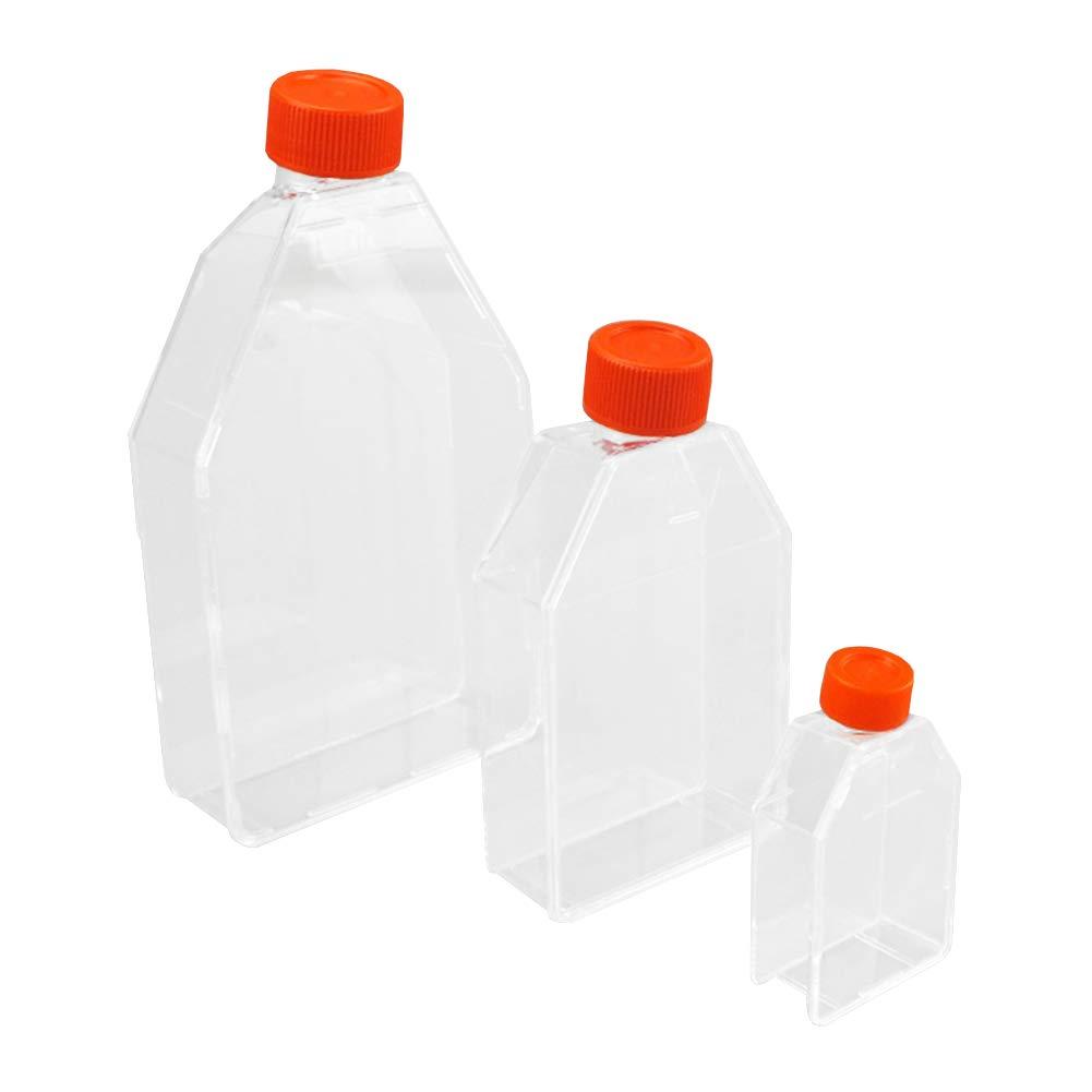 JINZFJG-SX Lab Cell Culture Flask Breathable Cover TC Sterile Plastic Cell Culture Bottle 50ml 250ml 600ml 850ml Torticollis Flask by JINZFJG-SX