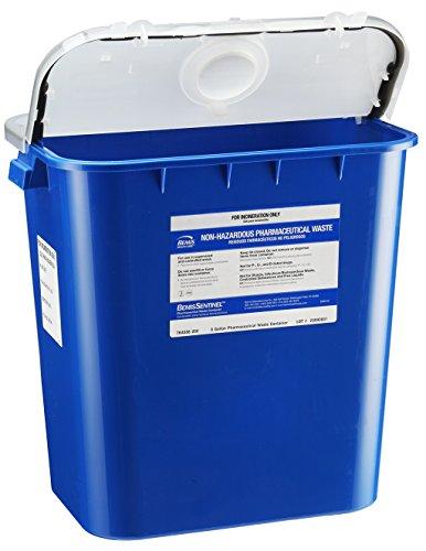 [해외]Bemis Healthcare 4008050-10 8 gal 제약 폐기물 컨테이너, 파란색 (10 개 팩)/Bemis Healthcare 4008050-10 8 gal Pharmaceutical Waste Container, Blue (Pack of 10)