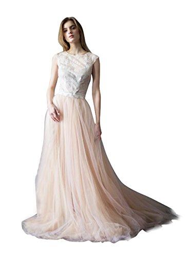 Long Tulle Train (BetaaBetaa Light Champagne Short Train Tutu Skirt Wedding Bridal Skirt Wedding Bridal Skirt S)