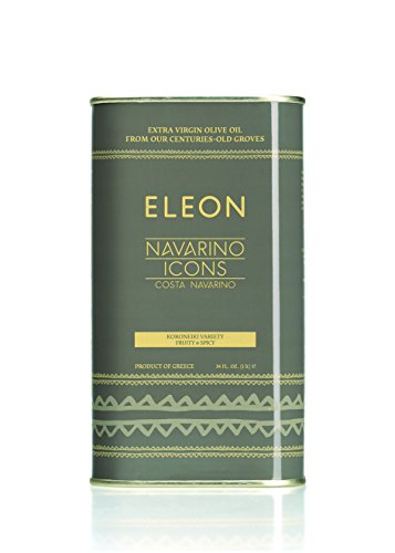 [NAVARINO ICONS Eleon Greek Estate Extra Virgin Olive Oil, Fruit & Spicy,  34 Fluid Ounce] (Greek Extra Virgin Olive Oil)