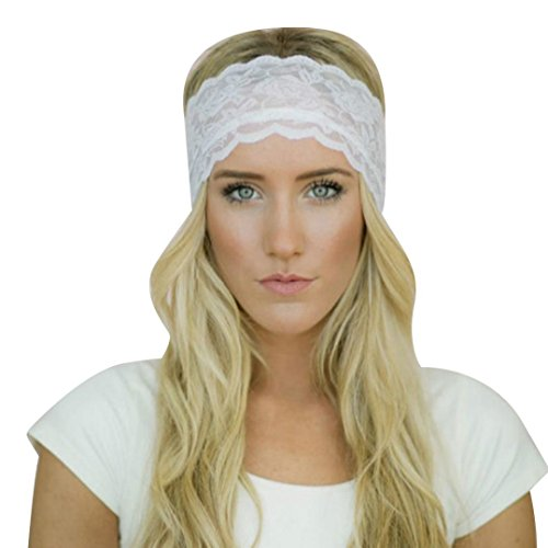 Ankola Headbands, Outdoor Multifunctional Headwear, Sports Magic Scarf, High Elastic Headband with UV Resistance, Athletic Headwrap Sweatband, Womens Hairband (White, One Size)