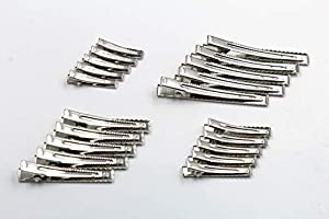 Lot Metal Prong Alligator//Snap Blank Hair Clips Pad For Bows Barrette DIY U Pick