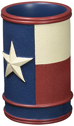 Avanti Linens 13218AMUL Texas Star Tumbler, Medium, - Bath Accessories Stars