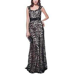 96ec39f886 Meier Women s Sleeveless Embellished Lace Formal Evening Dress Size 14
