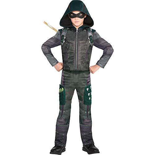 Suit Yourself Green Arrow Costume for Boys, Size Extra-Large, Includes a Jumpsuit, a Mask, a Quiver, and Thigh Holsters -