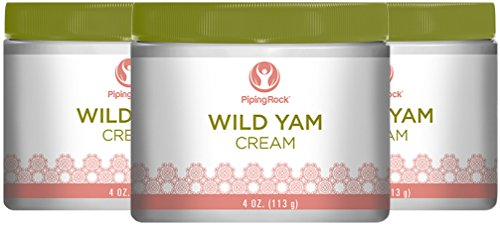 Piping Rock Wild Yam Cream 3 Jars x 4 oz (113 g)