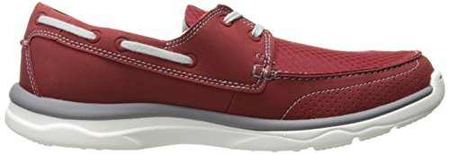 Clarks Mens Marus Edge Oxford Red