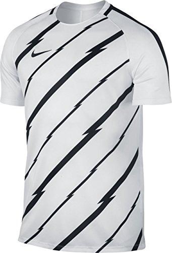 Nike M Nk Dry Sqd Ss Gx Camiseta de Manga Corta, Hombre Blanco (White / Black / Black)