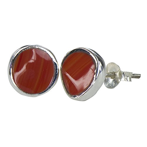 Orange Agate Earrings - 8
