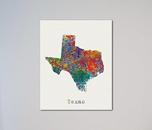 Texas Map Print