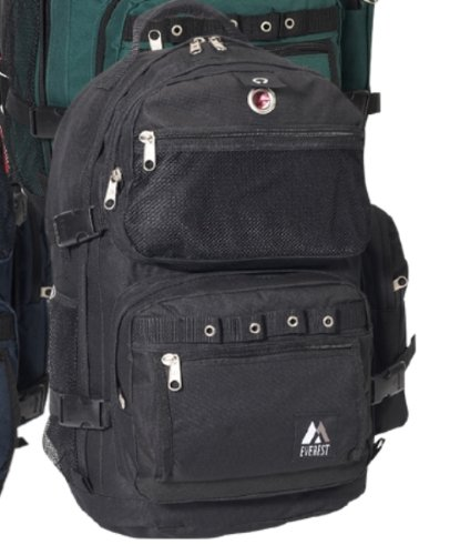 Everest 3045R Oversize Deluxe Backpack – Black, Outdoor Stuffs