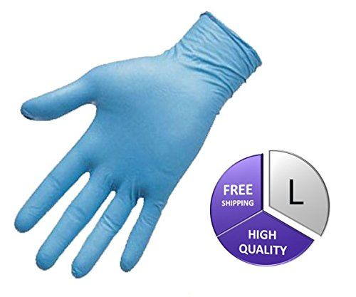 Medical Grade Nitrile Powder Free Exam Glove, 8 Mil, Large, Blue (4500 Count) by PSBM by PackagingSuppliesByMail