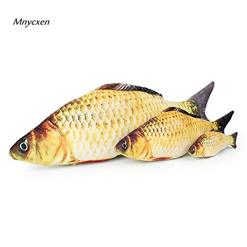 Funny Grass Carp Pet Cat Kitten Catnip Fish Shape Interactive Cats Chewing Playing Toys 18 40cm 60cm Products for Cats katten @C