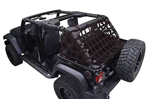 Netting 3pc Kit Cargo Sides - for Jeep JKU 4 door - - Dirtydog