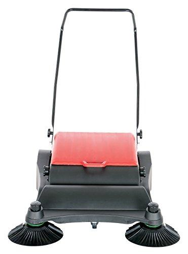 Vestil JAN-LG Manual Push Floor Sweeper with Steel Handle, 32-1/2'' Head Width, 30'' Overall length, Black and Yellow by Vestil (Image #2)