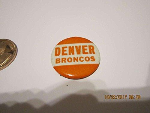1960 Denver Broncos AFL vintage button ()