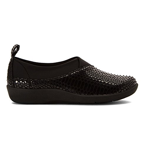 Us Greer Snake Mocassini M Clarks Donna Serpente 5 Women Sillian black Nero q8aCa5