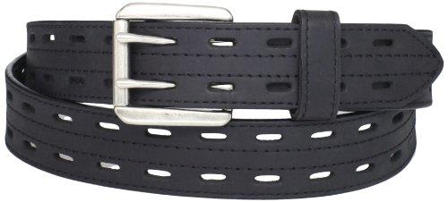 Danbury Work Wear Men's Big Double Prong Belt, Black, 48