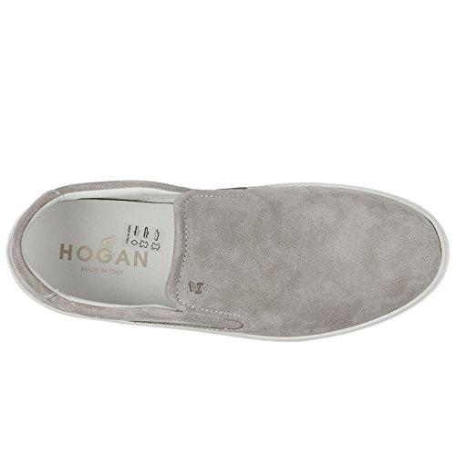 Sneakers Hogan Men's Slip Suede Grey h302 on FqwIPvnqT