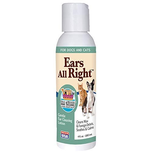 Ark Naturals Ears All Right, Gentle Ear Cleaning Lotion for All Pets - 4 fl - Cleaning Gentle Ear Lotion