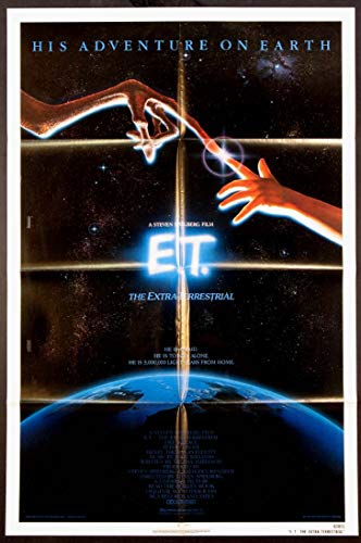 E.T. THE EXTRA-TERRESTRIAL STEVEN SPIELBERG SCIENCE FICTION 1982 ORIGINAL 27X41 NSS ONE SHEET MOVIE POSTER NM