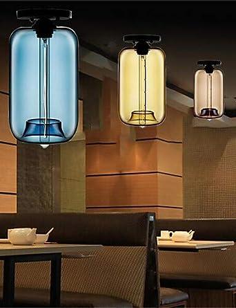 lámpara Retro único Jefe Creativo, lámparas colgantes de cristal Bar Bar Bar Cafetería restaurante en la pecera, blanco cálido-220-240v #2553: Amazon.es: ...