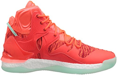 Adidas Prestaties Heren D Steeg Met 7 Primeknit Basketbalschoen Zonne-rood / Wit / Ice Groene Stof