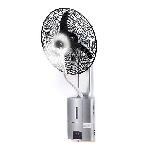 (ZQZ Fan 7m Hurricane, 1.8L Water Tank, Environmental Protection, Low Temperature Cooling, Wall-Mounted Industrial ice Spray Fan (220V) (Color : Gray))