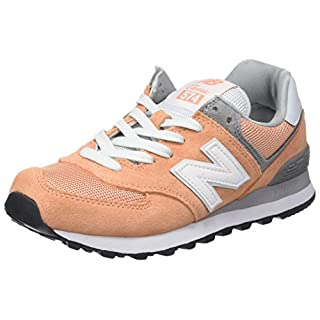 New Balance Women's WL574CB, Peach, 6 B US