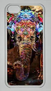 Elephant Arts Colorful Custom PC Transparent Case for iPhone 5C by icasepersonalized