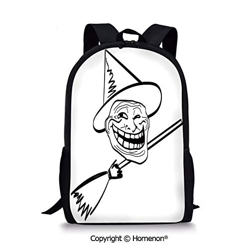 Black White,design Backpack School Bag for Kids Back to School(17.3