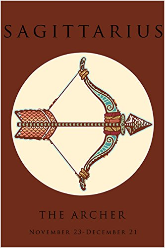 SAGITTARIUS ASTROLOGY art poster 24X36 CLASSIC zodiac THE ARCHER arrow HOT