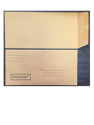 License Plate Envelopes Moist & Seal Printed, 100 per pack