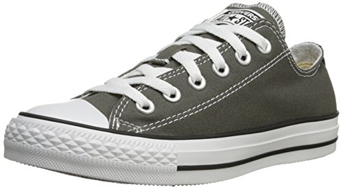 Womens Converse All Star Chuck Taylor Ochsen Schnürsenkel Low Top Canvas Sneakers Holzkohle