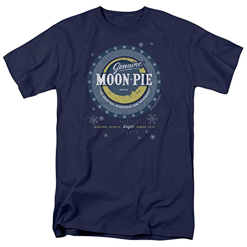 Moon Pie- Snowflake Logo Button T-Shirt Size L Button Moon T-shirt