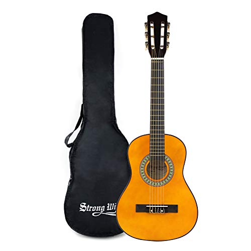 Strong Wind Classical Acoustic Guitar 30 Inch 6 Nylon Strings Guitar Beginner Kit for Students Children Adult (1/2 Size) ...
