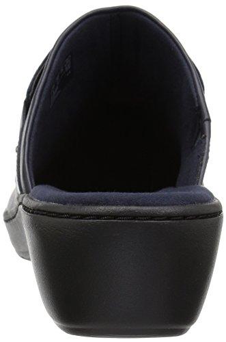 Clarks Delana Abbey Women's Clog M Leather Us 055 Navy wqwU1yrPR