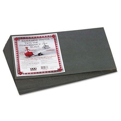 Pacon 103633 Riverside Construction Paper, 76 lbs., 12 x 18, (Slate Gray 50 Sheet)