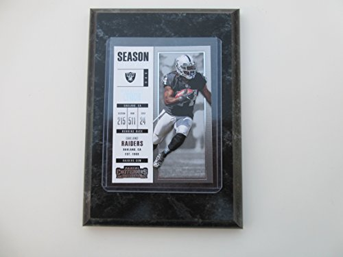 Marshawn Lynch Oakland Raiders 2017 Panini Contenders Football player card mounted on a 4