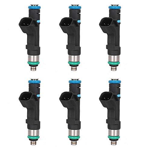 (6 PCS Injectors Nozzles 0280158020 Fuel Injectors 4 Hole for Dodge Dakota Durango Nitro Ram 1500 Jeep Commander Grand Cherokee Liberty Mitsubishi Raider Ram 1500, Flow Matched Fuel Injector 0280158020 )