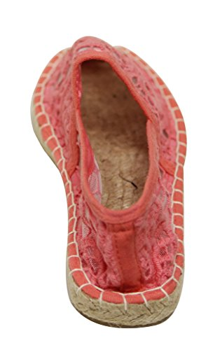 Refresh Palace-01 Womens comfort petate sole paisley embroided upper espadrilles Coral pLhHwf