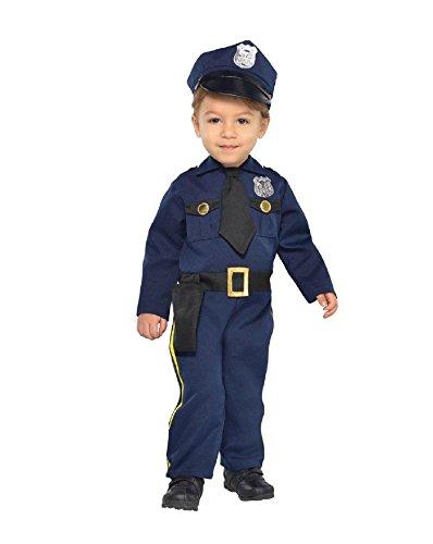 [Cop Recruit Costume - Newborn] (Cute Halloween Costumes For Newborn Babies)