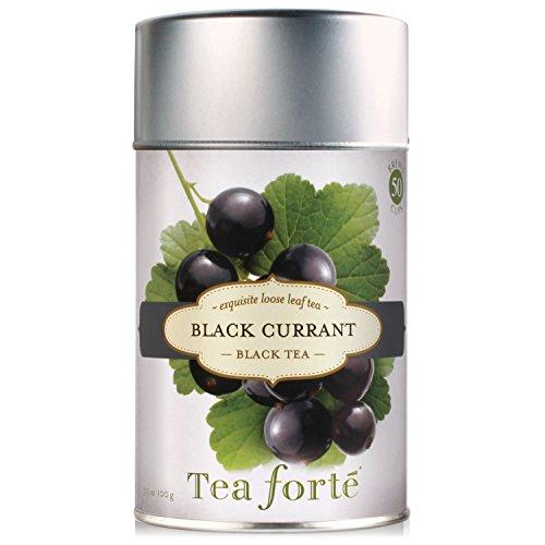 Tea Forte BLACK CURRANT Loose Leaf Black Tea, 3.5 Ounce Tea Tin Currant Leaf